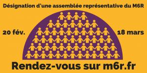 Mouvement pour la sixième République : une nouvelle étape Assemblee-representative-du-m6r-300x150