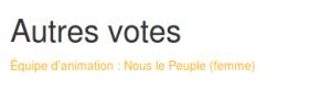 A voté - élections