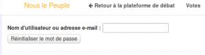 mail récupération de mot de passe